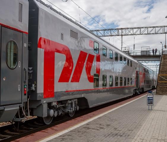 Поезд РЖД 2 этажа